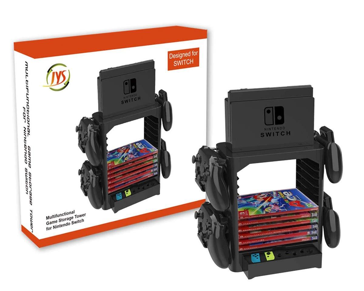 PeakLead Soporte Almacenamiento Juego de la Torre para Nintendo Switch Games Storage Tower Stand para Switch Consola Dock Set, Mando Joy-con, Pro ...