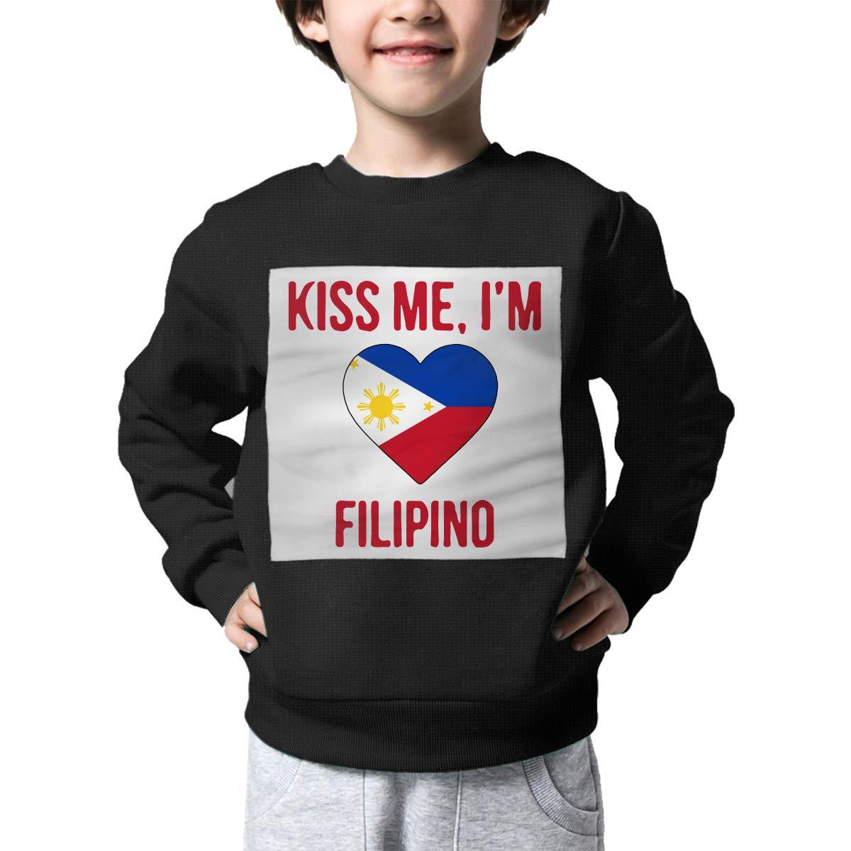 Childrens Kiss Me Im Filipino Sweater Kids Sweatshirt