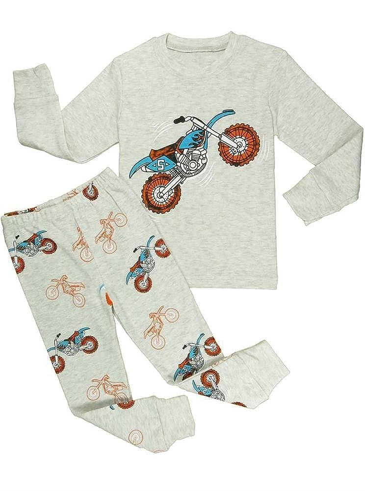 40 Blcswan Baby Boy Monkey 2 Pcs Pajamas Set Sleepwear T Shirt 12M-7Y Pants