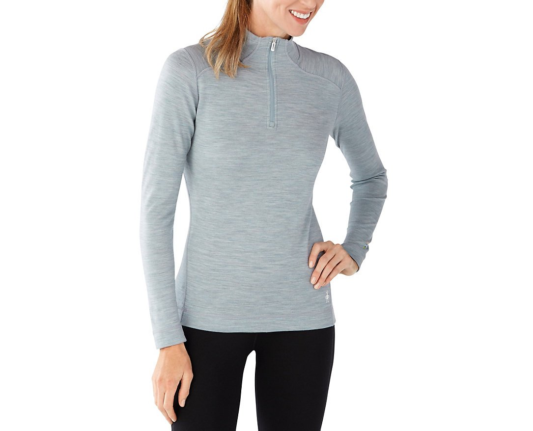Smartwool Women's NTS Mid 250 ZIP T (Blue Ice Heather) Medium by SmartWool