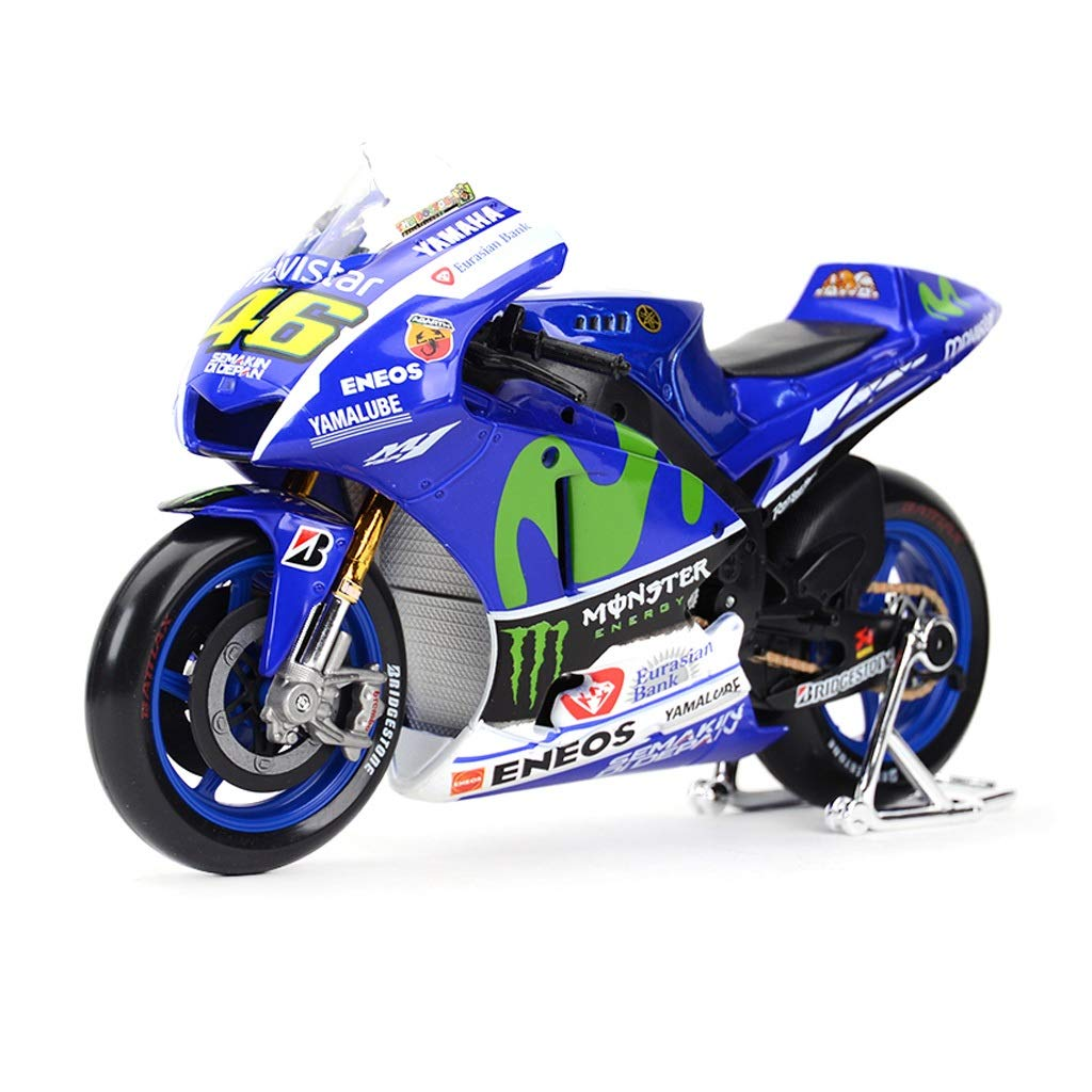 46 Valentino Rossi Motorrad-Modell das statische Legierung Motorrad-Modellsammlung Geschenke simuliert Modellauto Motorrad-Modell 1: 10 Yamaha Nr Farbe : Blau