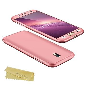 Funda para Samsung Galaxy J7 2017 360 Protección Integral Para Ambas Caras Anticaída Antigolpes Maviss Diary Carcasa Ultra Fina Delgada Tacto ...