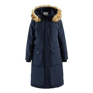 Polydeer Women's Puffer Jacket Waterproof Rain Long Coat Arctic Vegan Down Winter Parka (L, Navy)