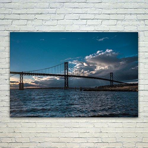 Westlake Art Poster Print Wall Art - Bridge Sky - Modern Pic