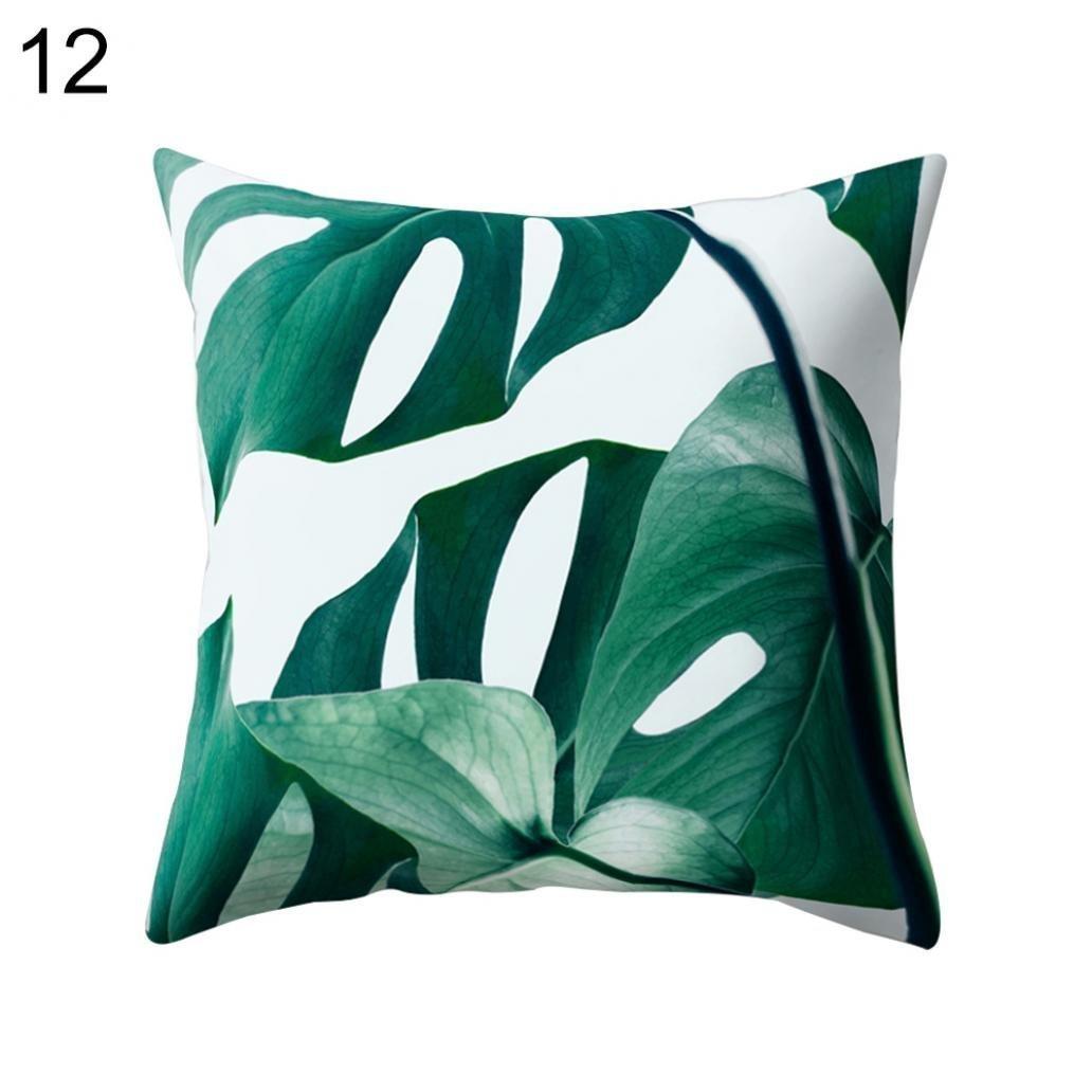 1# Dekorativer Kissenbezug mit Motiv gr/üner Kaktusbl/ätter Einheitsgr/ö/ße 45/x 45/cm