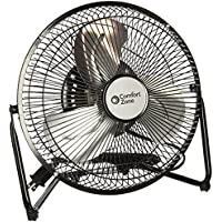 Comfort Zone Portable Floor, Table, & Office Fan | 9 Inch, High Velocity Cradle Fan