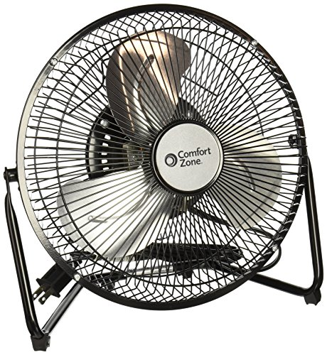Comfort Zone Portable Floor, Table, Office Fan | 9 Inch, High Velocity Cradle Fan