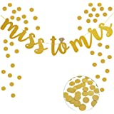 Miss to Mrs Banner,For Bridal Shower and Bachelorette Party Decoration Supplies