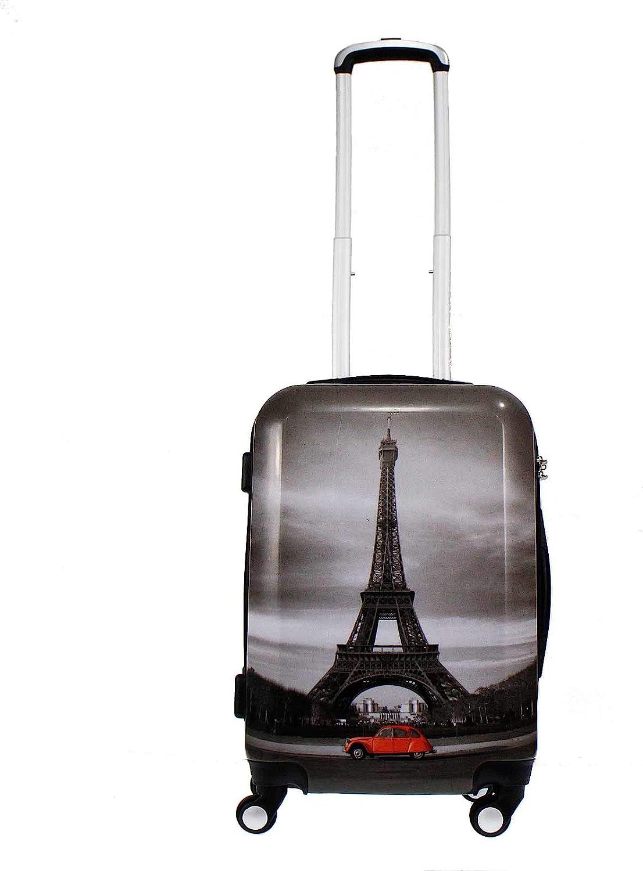 Alexander 20'' ABS Maleta de Viaje Equipaje de Mano Cabina 54*34*21.5 cm Capacidad 38L Estructura Rígida Ligera Impermeable con Asa Telescópica 4 Ruedas Giratorias 3 Tamaños (Torre Paris, S) 1345-S