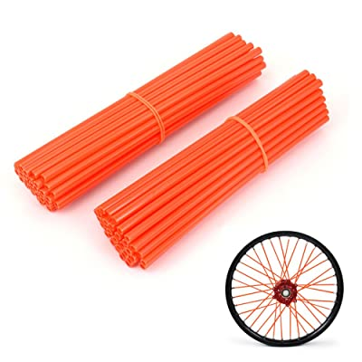 "JFG RACING 72 Pcs Orange Motorcycle Spoke Covers skins For 19""-21"" Rims SX SXF EXC XC XCF XCW MX Dirt Bike: Automotive"