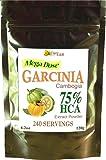 CurEase Garcinia Cambogia Gummi-Gutta 75% HCA Hydroxycitric Acid Powder 4.2oz 500mg 240 Servings