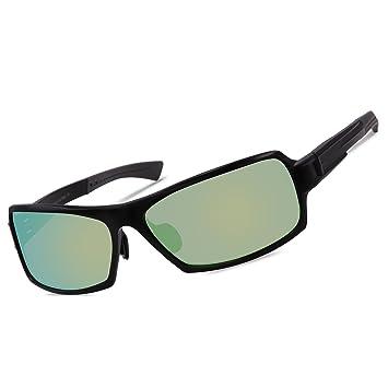DUCO 9019 Gafas de Sol Polarizadas Unisex con Marco de Metal Irrompible