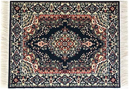 Dolls House Miniature Turkish Woven kaminoteppich Carpet Miniature 1:12 Accessory A