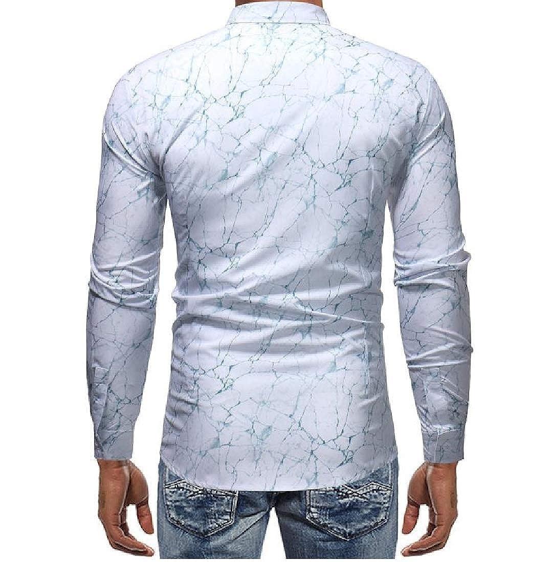 YUNY Mens Regular Fit Single Breasted Oversized No-Iron Dress Shirt White M