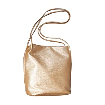 880004cbceb iShine Large Capacity Soft Leather Solid Color Retro Casual Functional Multi  Pocket Shoulder Tote Bucket Handbags