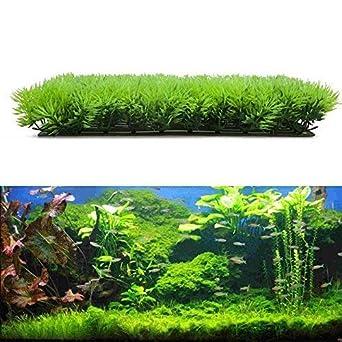 Nueva Llegada Fish Tank Acuario Artificial Falso Agua Acuática Hierba Verde Planta Césped Acuario Paisaje Sustrato Decoración DA: Amazon.es: Industria, ...