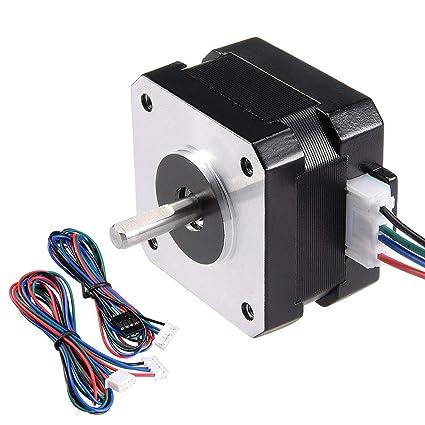 ALCOMPRA Motor paso a paso Nema 17 Bipolar 16 mm 0.315NM 1.5 ...