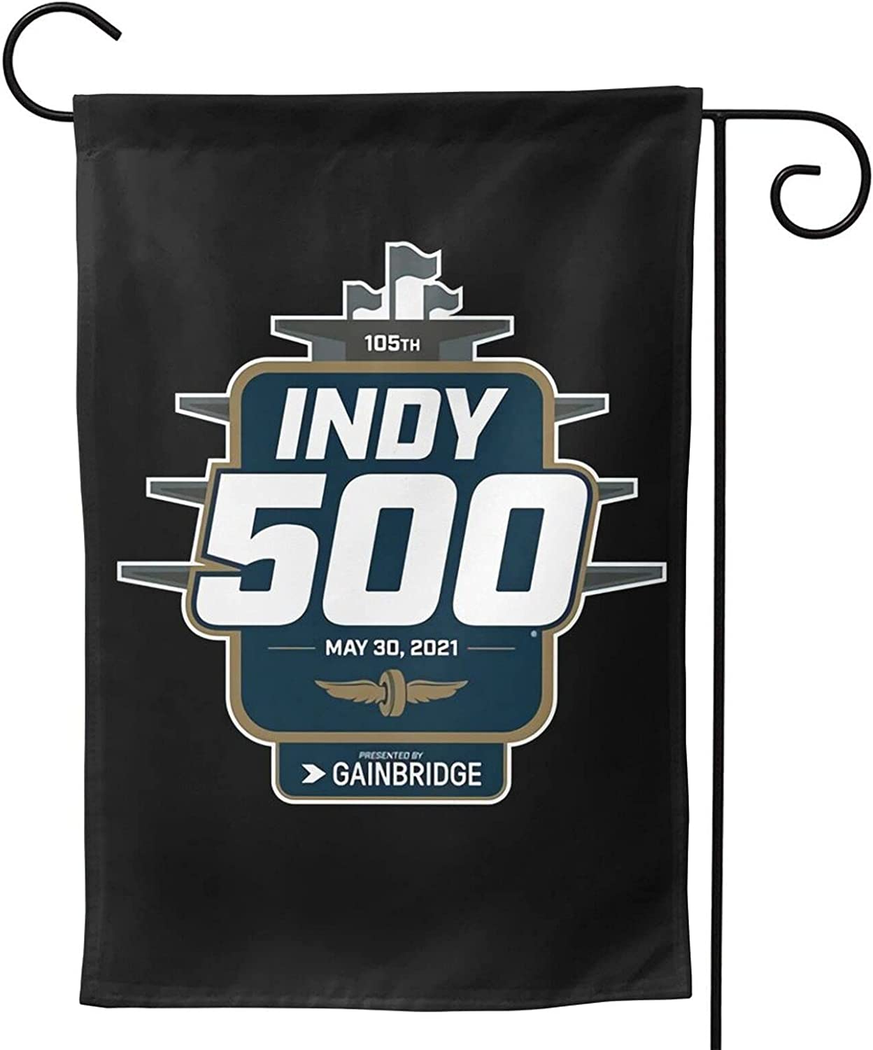 YUAKUOD Indianapolis 500(Indy 500) Garden Flag Double-Sided Printing Polyester Decorative Yard Banner Holiday Flag for Party Outdoor Decoration Home Decor 28