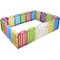 cuddly baby 19-Panel Plastic Baby Playpen with Interactive Safety Gate for Kids Toddler