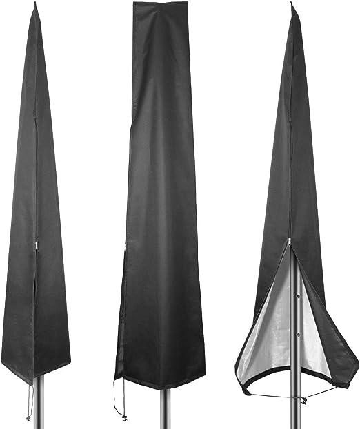 Wmchiwan Funda Sombrilla Jardín Impermeable, Resistente al Viento, Resistente al Polvo, Anti-UV 210D Oxford Funda Protectora para Parasol (190x30/50cm) - Negro: Amazon.es: Hogar