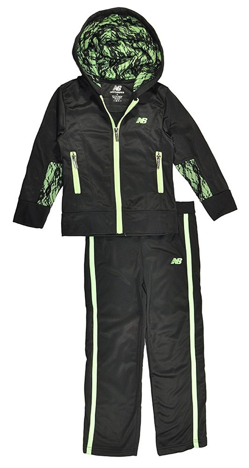 New Balance Little Girls Lace Detailed Hoodie 2pc Track Pant Set product image
