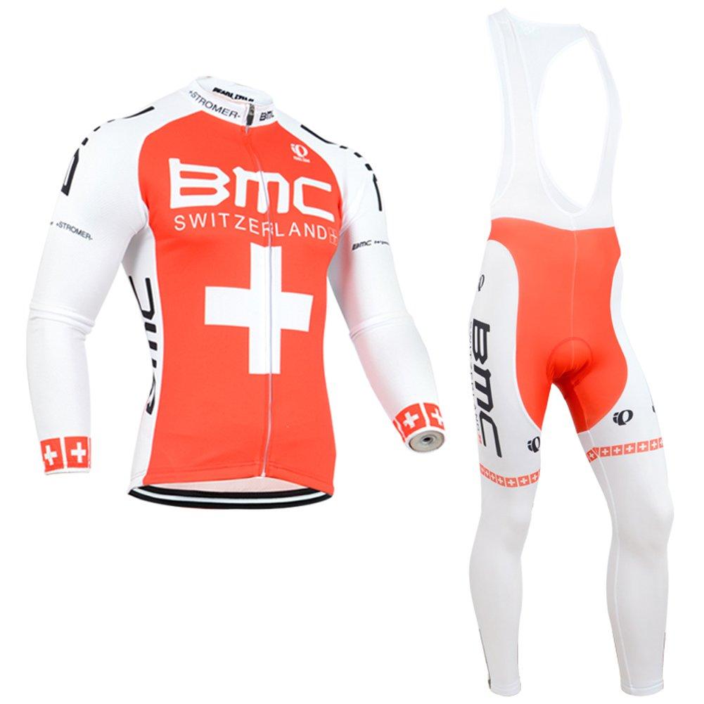 uonoメンズ長袖サイクリングジャージージャケットBibパンツパッド入りスーツ B01EK0K0O6 6L|Bib Suit p Bib Suit p 6L