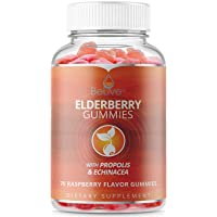 Elderberry Gummies with Vitaminc C, Propolis, Echinacea. Max Strength 200MG - Sambucus...