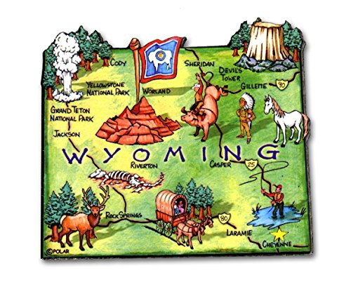 ARTWOOD MAGNET - WYOMING STATE MAP