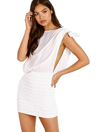 4b89dfe253 Indah Amnesia Mini Dress White at Amazon Women s Clothing store