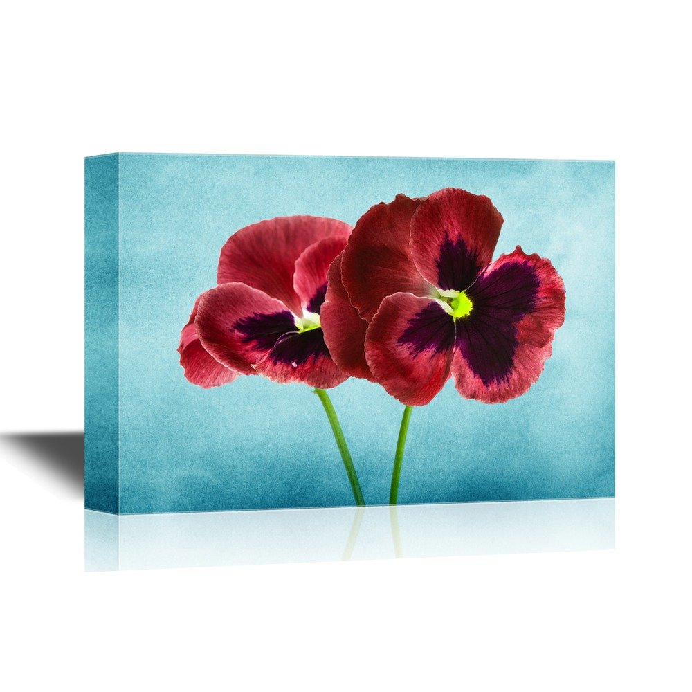 Pansy Flower Red Pansy Flowers - Canvas Art | Wall26