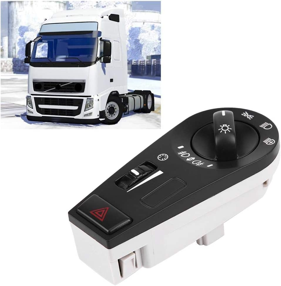 KIMISS Headlight Lamp Control Switch Button Truck Headlight Switch Button for FH12 FM VNL 20942844 20466302