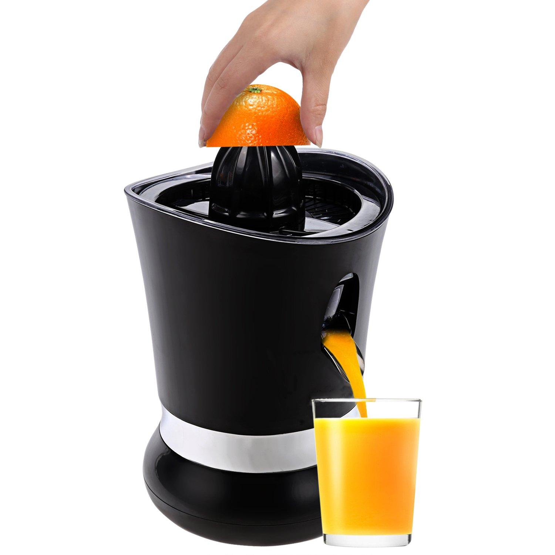 Presse agrumes électrique Citrus Presse auroma Table Noir jus presse 85watt, système anti-goutte pour Coorun