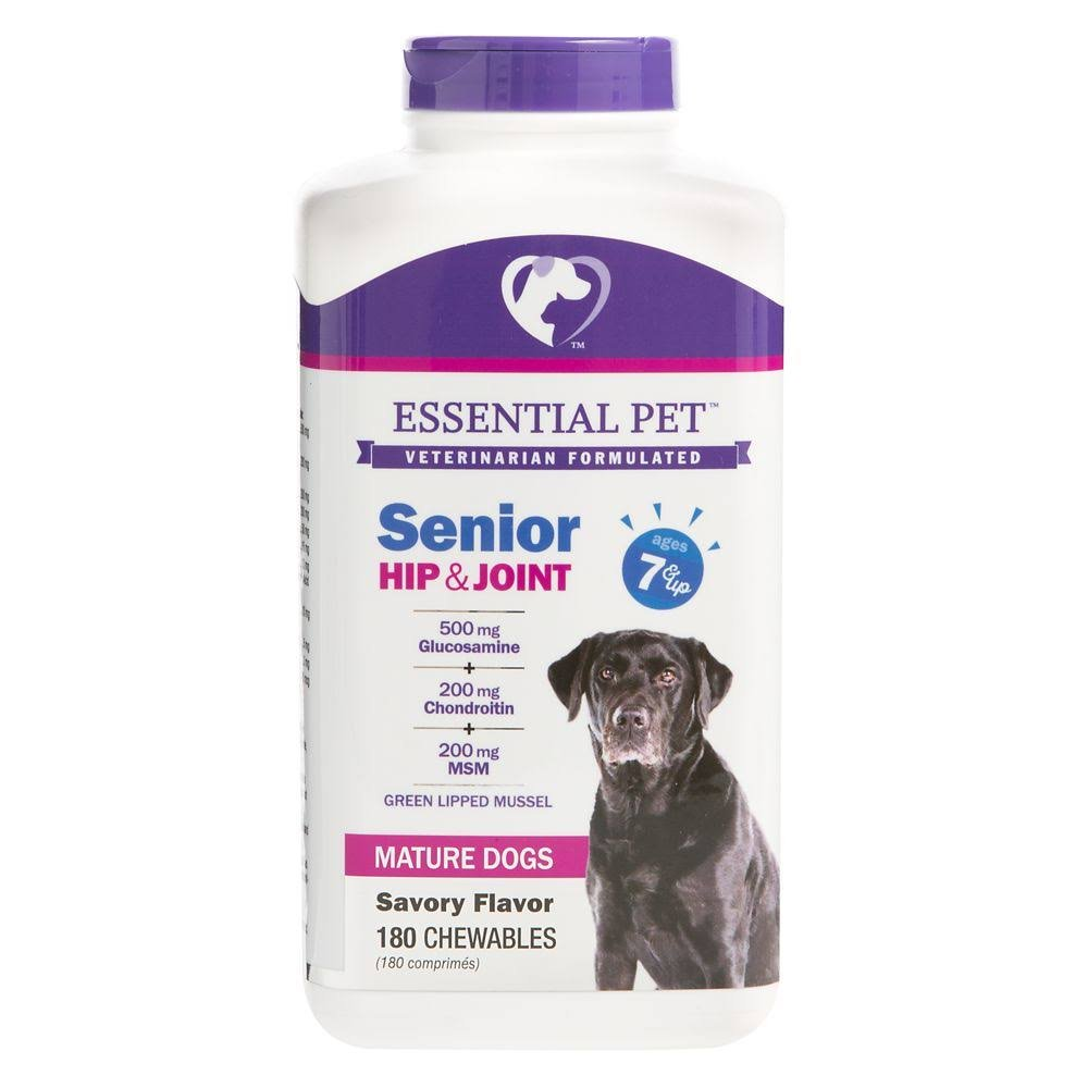 Essential Pet, Senior Hip & Joint Ages 7+ Dog Chewables size: 180 Count