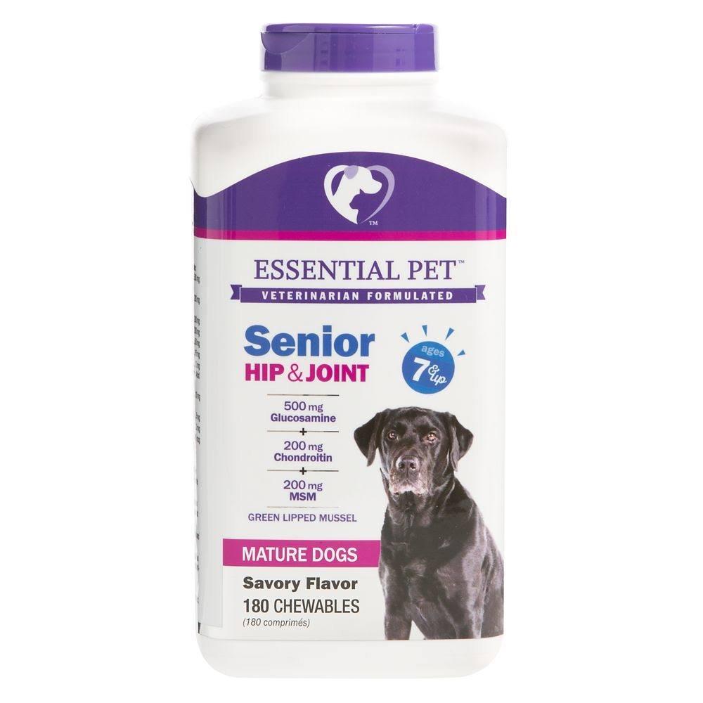 Essential Pet, Senior Hip & Joint Ages 7+ Dog Chewables size: 180 Count