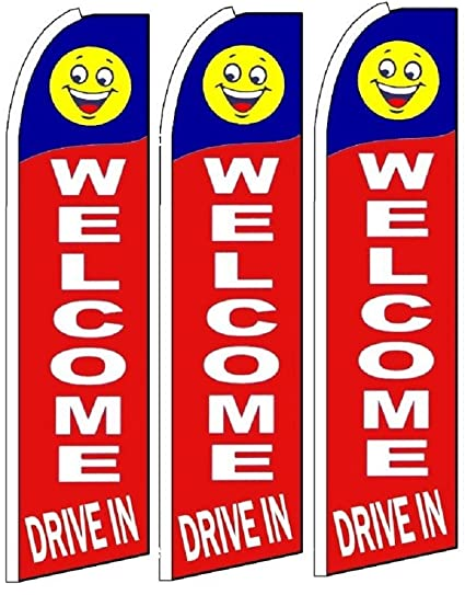 Pack of 4 Drive In King Swooper Flag w//Kit