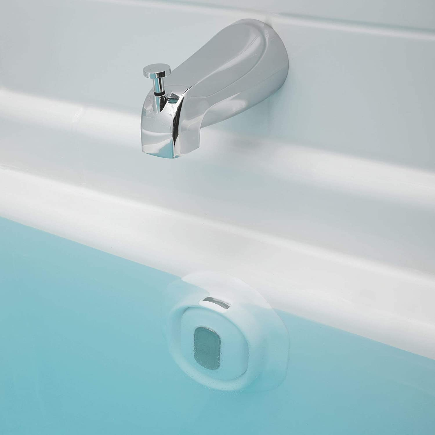 Bottomless Bath Overflow Drain Cover Adds Inches of Water to Tub for Warmer