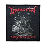 immortal merchandise - Immortal Damned in Black Patch Album Art Metal Music Woven Sew On Applique