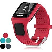 Ifeeker Replacement Soft Silicone Gel Watch Band Wrist Bracelet for TomTom GPS Sport Watch Runner Runner + HRM/Golfer/Cardio Multi-Sport GPS Sports Watch (One Size)