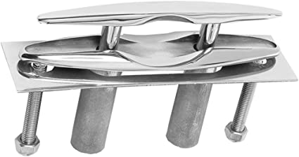 """5/"""" Pull-Up Cleat Pop-Up Flush Mount Lift 316 Stainless Steel Boat Marine"""