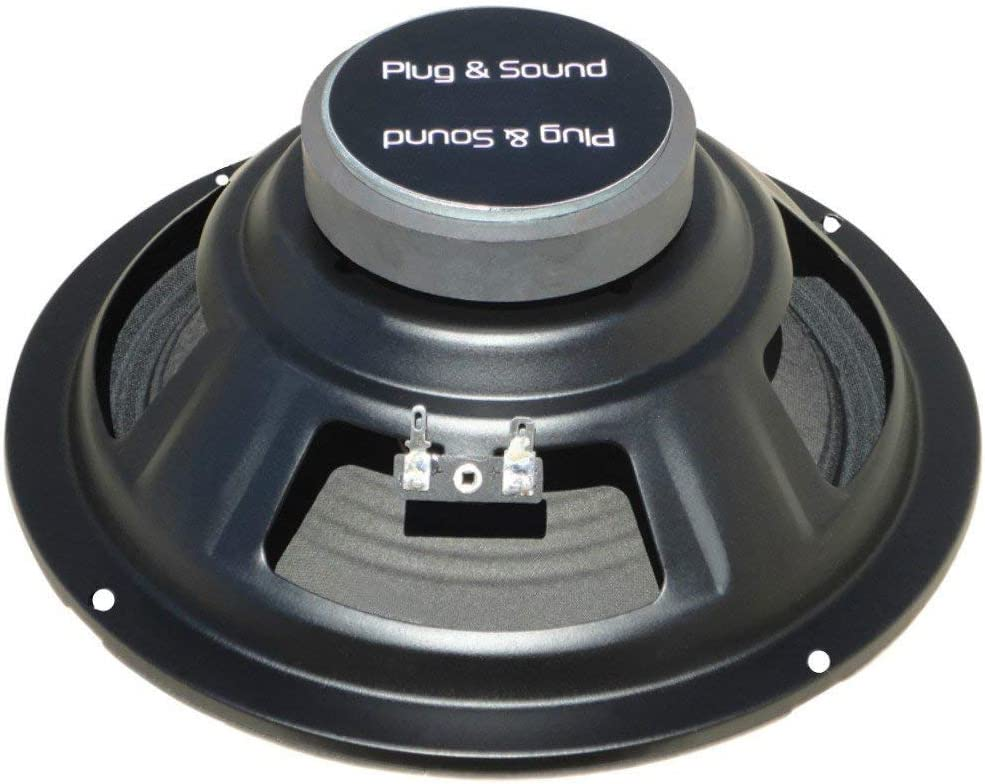 1 piezo PLUG /& SOUND S-84 Altavoz Medio s-84 woofer 20,00 cm 200 mm 8 75 vatios rms 150 vatios m/áx impedancia 4 Ohm Puertas Auto Sensible 92 db Negro