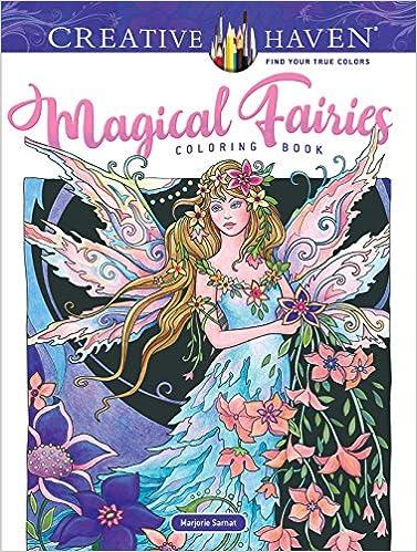 Amazon Com Creative Haven Magical Fairies Coloring Book Adult