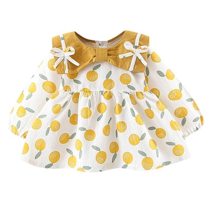 Bebés bebés niñas Manga Larga Arco Naranja Imprimir Princesa ...