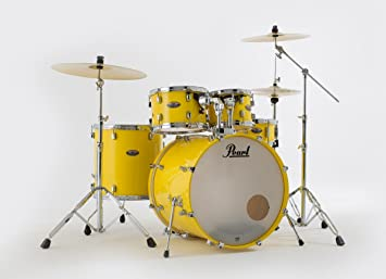 Pearl Decade Maple Standard Drum Kit Solid Yellow Limited Edition