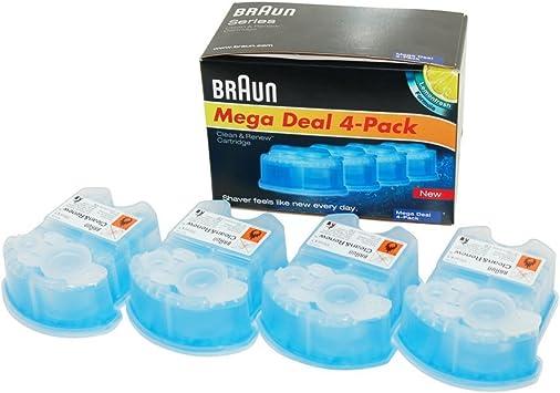 Braun CCR4 - Cartuchos para limpieza de afeitadora eléctrica, 4 ...