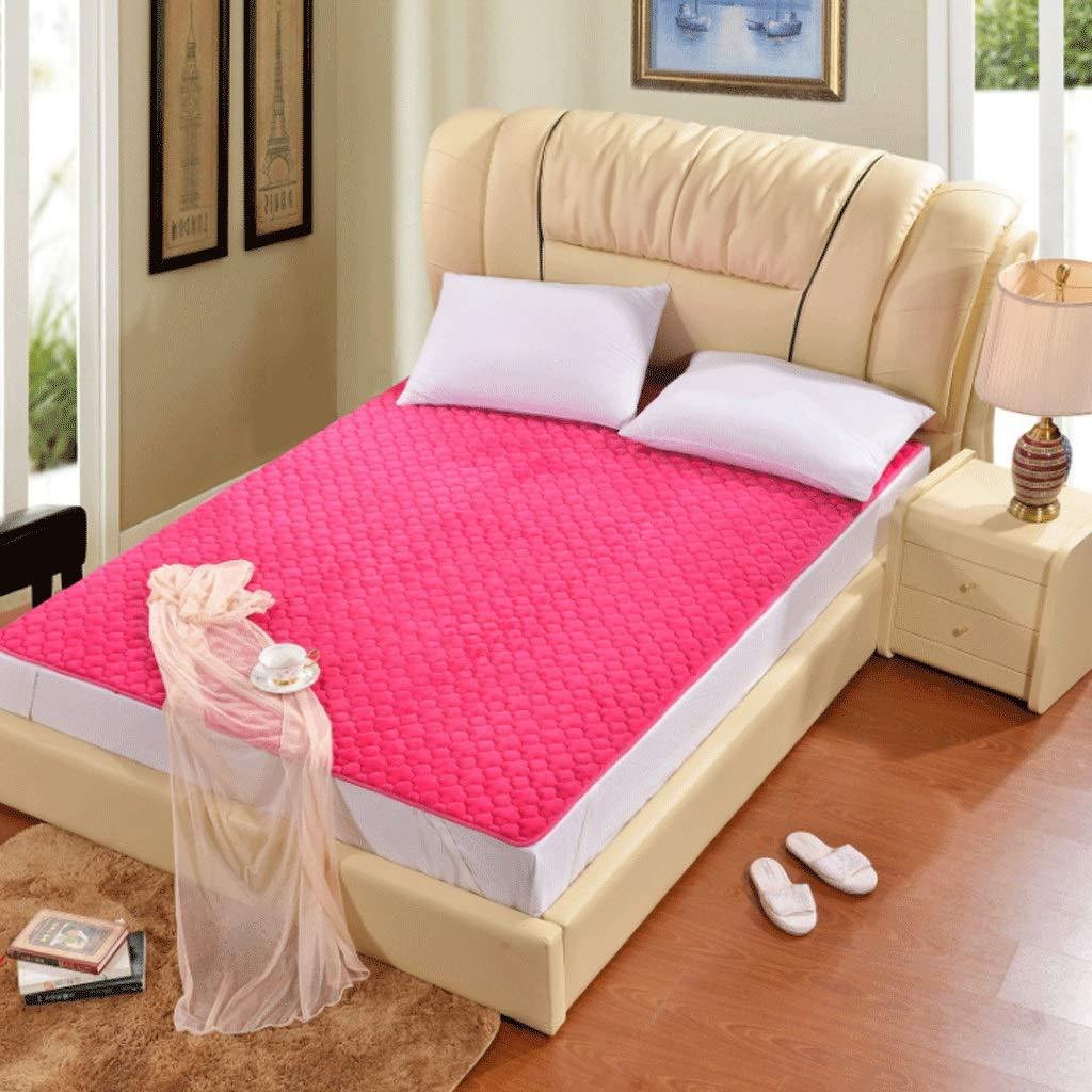 8 180x200cm Warm Multifunctional Non-Slip Mattress Tatami Comfortable Sleeping Mat +A (color   1, Size   90x200cm)