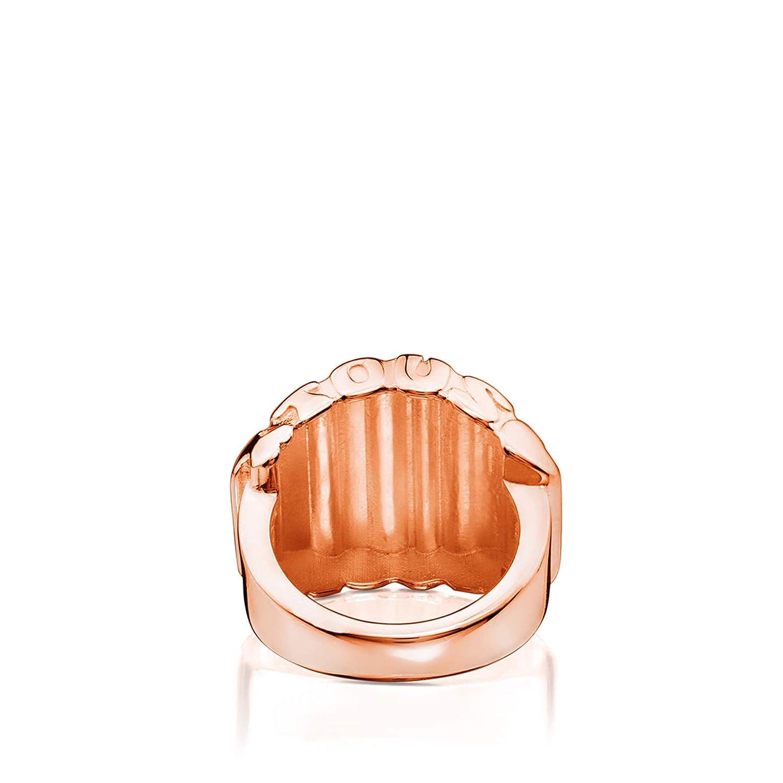 talla 11,5 TOUS Anillo Mujer vermeil rosado ba/ño rosa de oro 18kt