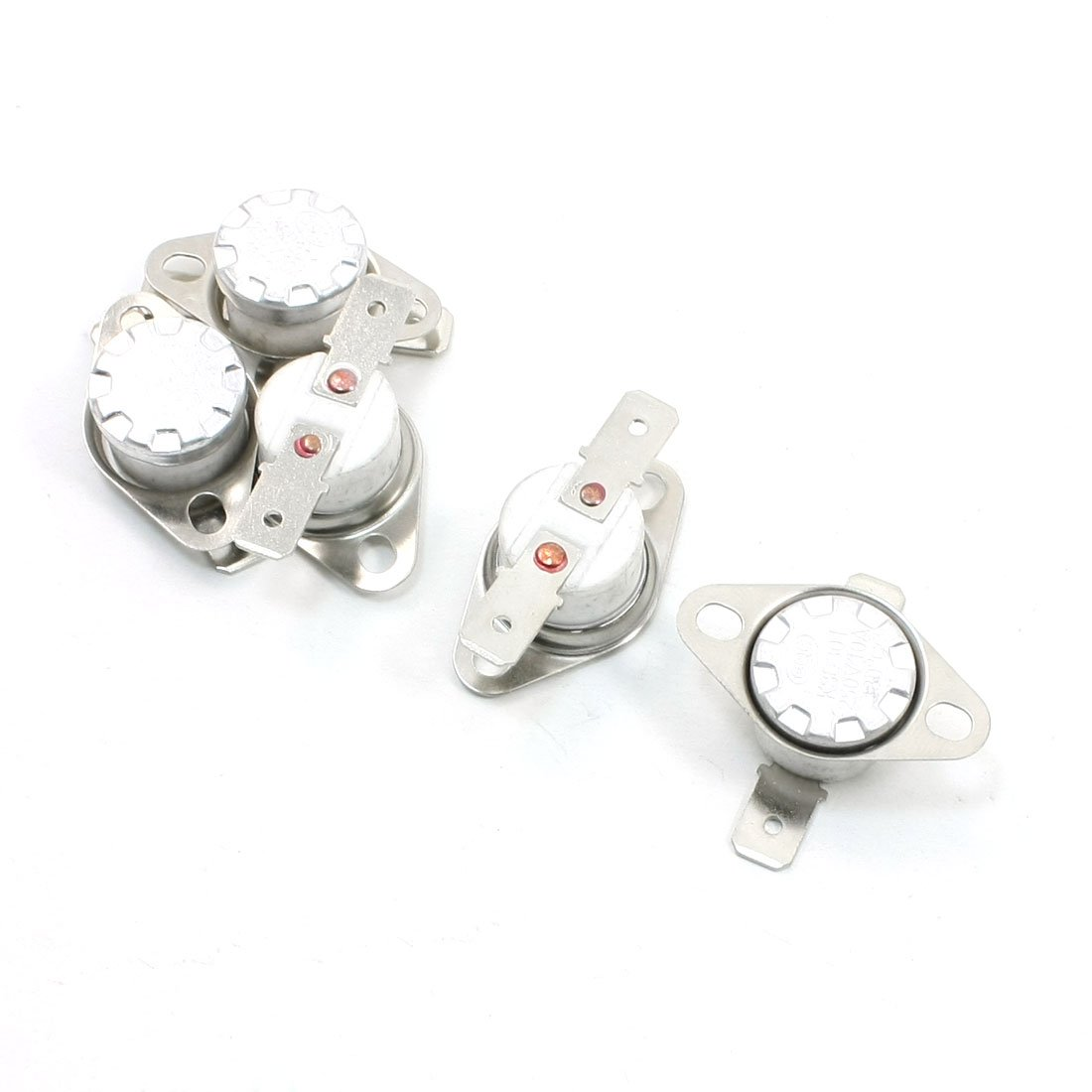 uxcell 5 Pcs 180 Celsius 250VAC 10A NC Ceramic Thermostat KSD301