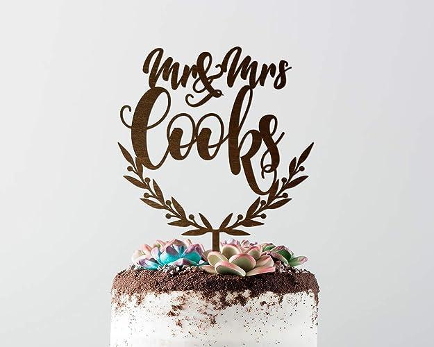 Amazon Com Wedding Cake Toppers Mr And Mrs Rustic Wedding Cake