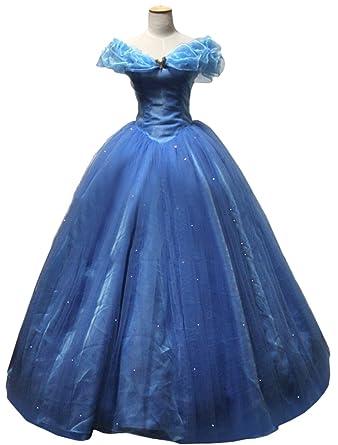 Cosgarden アニメ コスプレ衣装 ディズニー2015映画 Cinderella シンデレラ ドレス ハロウィン コスチューム 大人用 道具