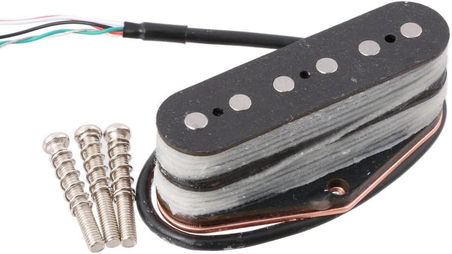 LYWS Alnico 5 Magnet Electric Guitar Parts Tele Tele Stack Telecaster Guitar Bridge Pickup 6-String Black